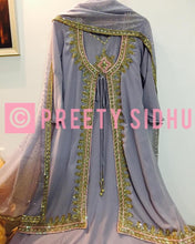 Load image into Gallery viewer, Periwinkle Georgette Jacket Suit