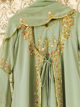 Load image into Gallery viewer, Pistachio Green Georgette Jacket Suit