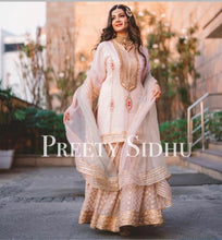 Load image into Gallery viewer, Misty Rose Gharara Outfit