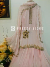 Load image into Gallery viewer, Pastel Peach Antique Work Gharara Suit