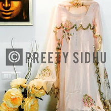 Load image into Gallery viewer, Rose Peach Crepe Sharara Suit