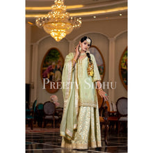 Load image into Gallery viewer, Olive Chanderi Sharara Outfit