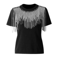 Diamond Tassels Knitted Top