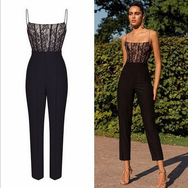 Lace Sleeveless Jumpsuit