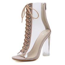 Load image into Gallery viewer, Transparent  Open Toe High Heels (3 colors)