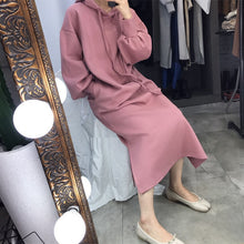Load image into Gallery viewer, Lantern Long Sleeve Oversize Dress