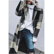 Load image into Gallery viewer, Winter Retro Plaid Woolen Coat