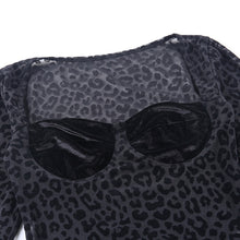 Load image into Gallery viewer, Transparent Leopard Sexy Bodysuit