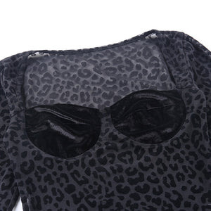 Transparent Leopard Sexy Bodysuit