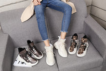 Load image into Gallery viewer, Leopard Fur Warm Platform Sneakers