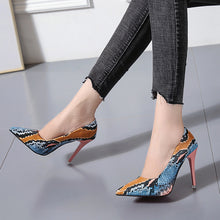 Load image into Gallery viewer, Snake Print High Heel