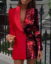 Load image into Gallery viewer, Blazer Dress (2colors)