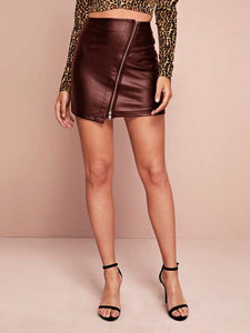 Leather Mini Skirts (2colors )