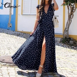 Polka Dot  Bohemian Dress ( 3 colors available)