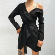 Load image into Gallery viewer, One Shoulder Asymmetrical Dress