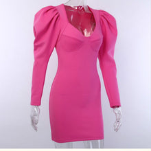 Load image into Gallery viewer, Pink Puff Sleeves  Dress