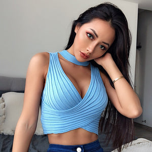 Sexy Cross Wrap/Crop top (variety of colors)