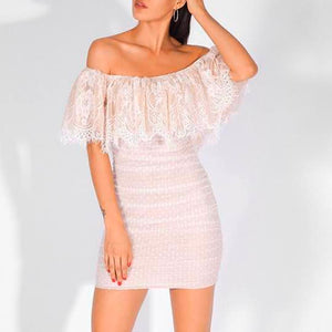 Off Shoulder Lace Sexy Dress