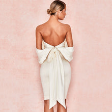 Load image into Gallery viewer, Sexy White Bow Sleeveless Backless  Dress