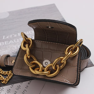 Elegant Leather Mini Bag /cross Body / Belt Bag (variety of colors)