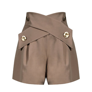 Elegant High Waist Short Pants