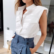 Shoulder Padded Blouse