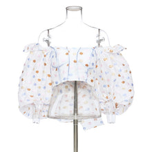 Load image into Gallery viewer, Puff Sleeves Polka Dots Top