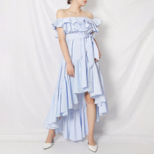 Load image into Gallery viewer, Elegant Striped Irregular Dress