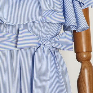 Elegant Striped Irregular Dress
