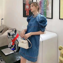Load image into Gallery viewer, Diamonds Denim Dress