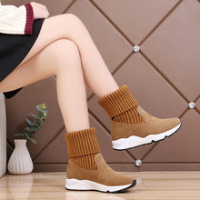 Load image into Gallery viewer, Socks Sneakers Stretch Ankle Booties