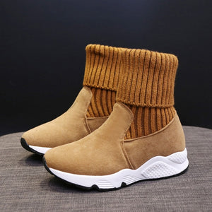 Socks Sneakers Stretch Ankle Booties