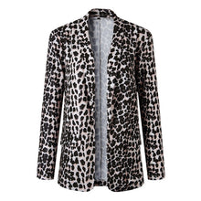 Load image into Gallery viewer, Leopard - Snake Print Long Sleeve women blazers