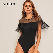 Load image into Gallery viewer, Fringe Trim Bodysuit