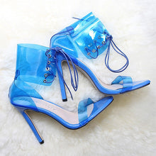 Load image into Gallery viewer, Women Pumps Transparent High Heels