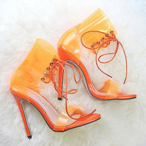 Women Pumps Transparent High Heels