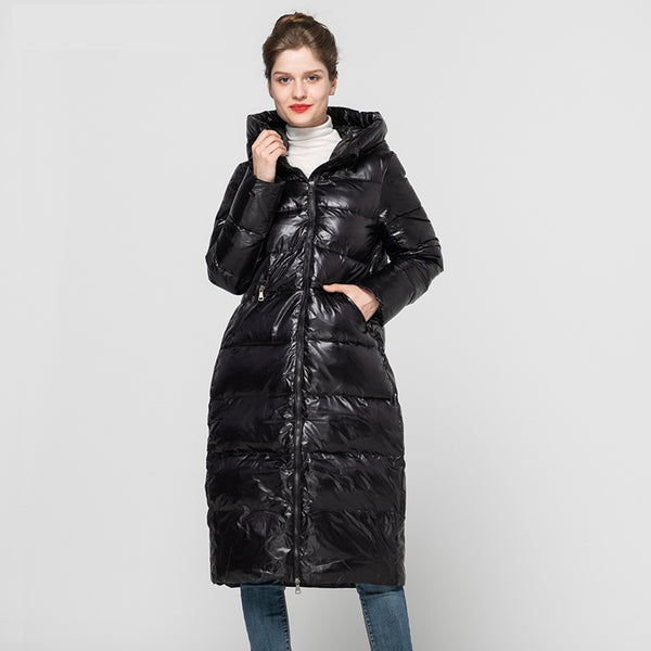 New Arrival Women's Winter Coat Real White Duck Down Coat Fashion Long Outerwear Female Thick Hooded Coats 2020