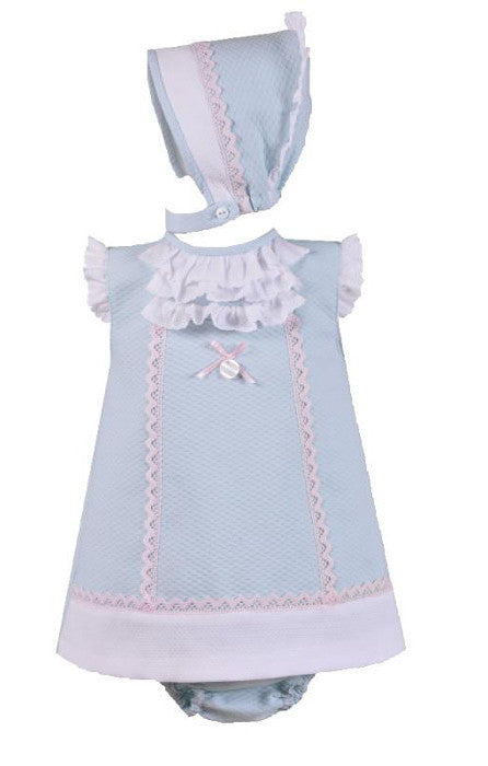 Belinda Dress with Bonnet and Bloomers