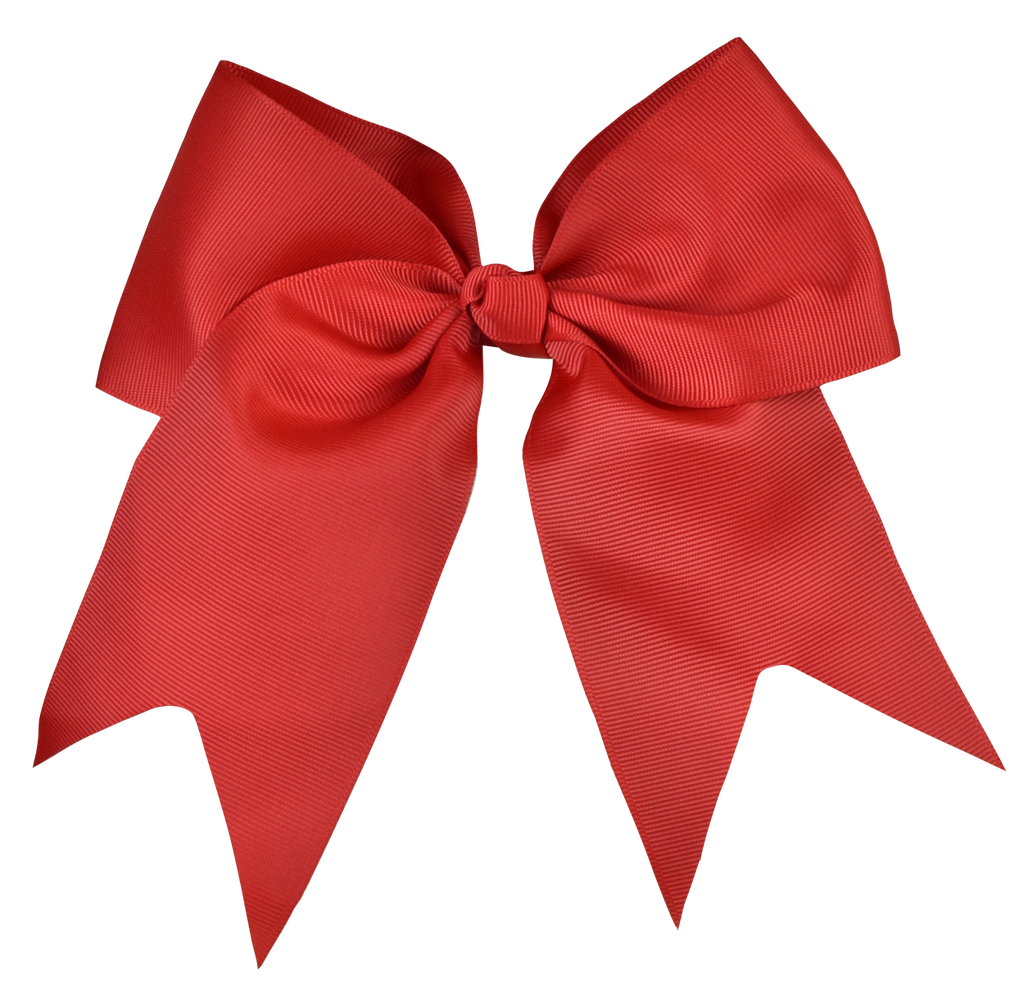 Apple Red Large Bow (Barrette)