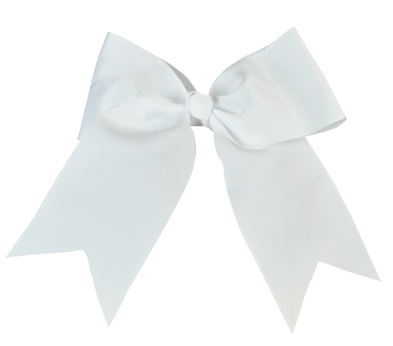 White Large Bow (Barrette)