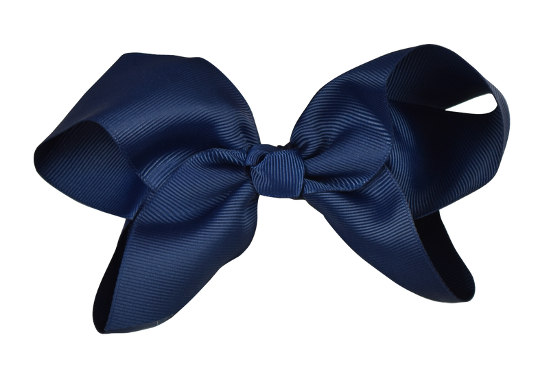 Navy Blue Bow (Barrette)