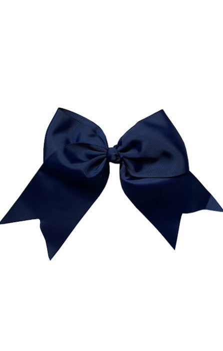 Navy Blue Large Bow (Barrette)