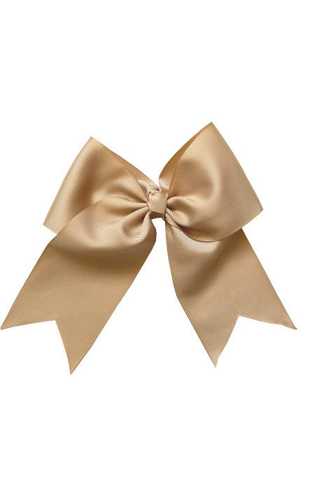 Champagne Large Bow (Barrette)