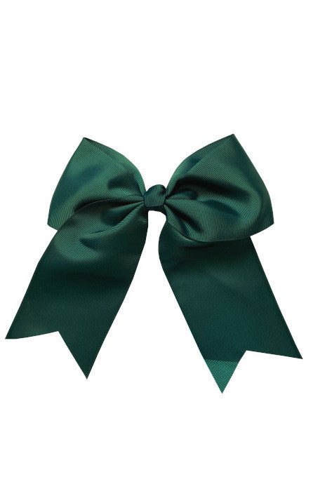 Forest Green Large Bow (Barrette)