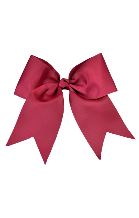 Burgundy Large Bow (Barrette)