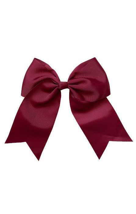Wine Red Large Bow (Barrette)
