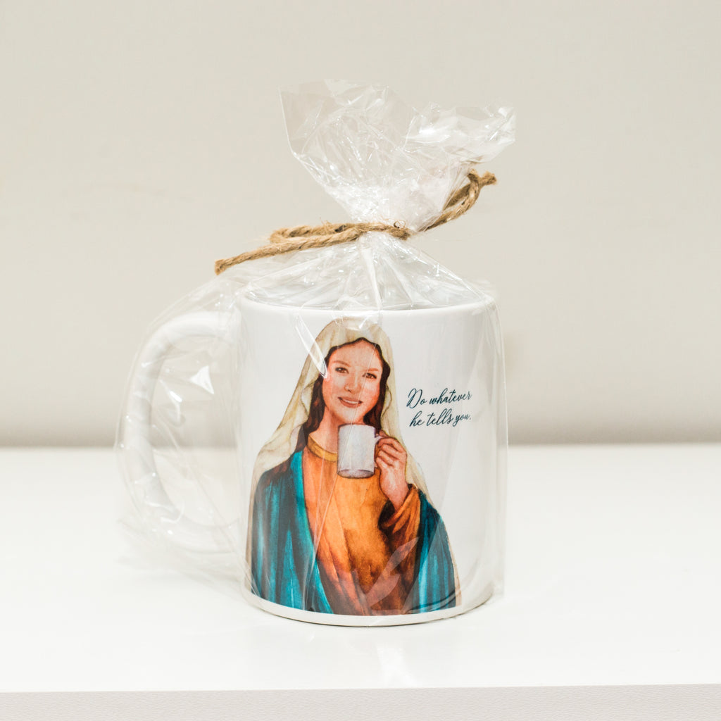 """Sipping with Saints"" Mary Mug"