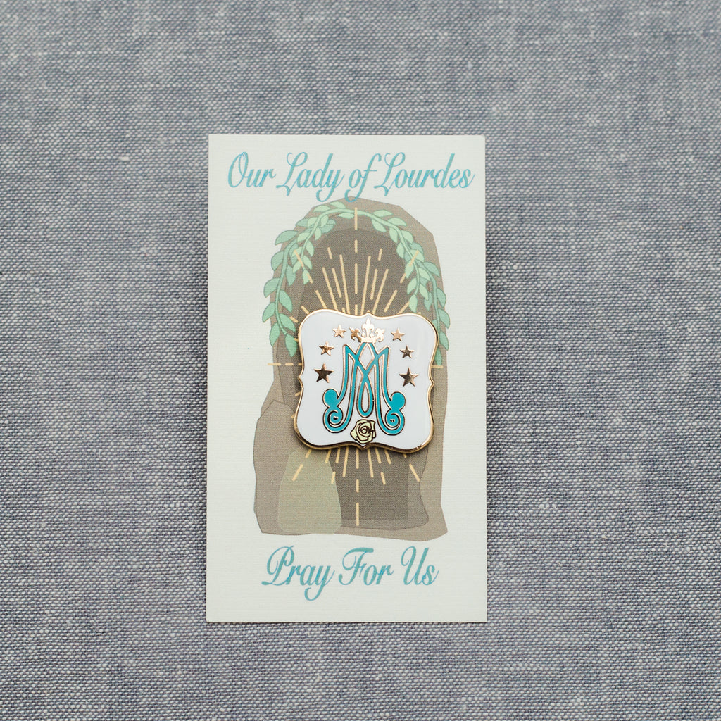 Our Lady of Lourdes Auspice Pin