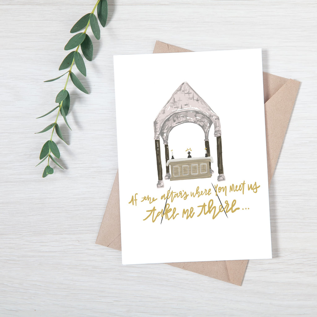 Whole Heart Designs Meet at the Altar Card