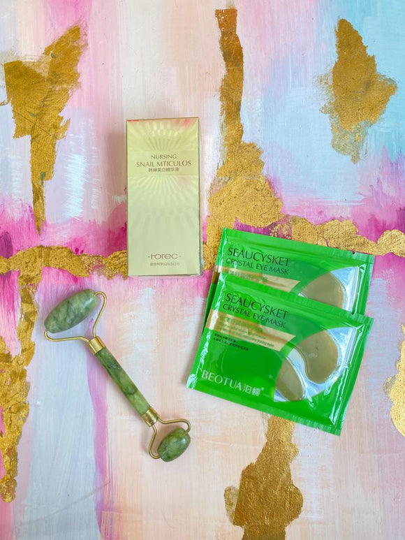 Combo Beauty Roller con Serum 24k